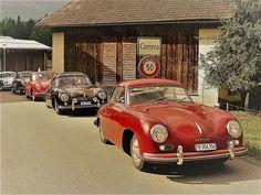 Porsche Sports Car, Porsche Cars, Porsche 356, Vintage Porsche, Classic Cars, Porsche Classic, Retro Cars, Dream Garage, Concept Cars