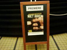 Tijdens de première van Niet Aaien van Hoogeboom, Marée en van der Winkel.