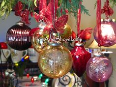 #PotteryBarn #Ornaments   Hoe and Shovel: Merry and Bright