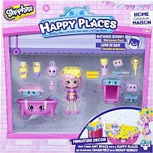 """Shopkins Happy Places Welcome Pack - Bathing Bunny - Imports Dragon - Toys""""R""""Us"""
