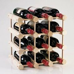 Wine Enthusiast Professional Natural Wine Chiller at Lowe's. Sourced from the finest sustainable tree plantations in Indonesia, our modular 12 bottle wine rack is now more durable, more beautiful and Wine Glass Rack, Wood Wine Racks, Bottle Rack, Wine Bottle Holders, Wine Bottles, Wine Refrigerator, Wine Fridge, Wine Rack Design, Wine Supplies