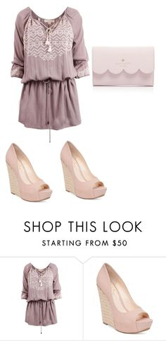 """""""Lilic"""" by zoellabae on Polyvore featuring Jessica Simpson, Kate Spade and outfitoftheday"""