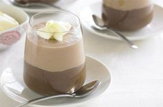 This mousse with the most brings together all three varieties of chocolate - dark, milk and white - in one irresistibly creamy dessert.