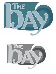 Logo design in full color and black-and-white for The Bay magazine by Michelle Kerr. This is a class assignment for Infographics.