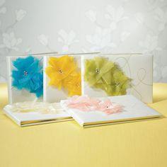 """I Do . . . Color"" Guest Book Saffron Yellow On Champagne"