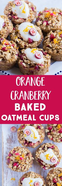 These Orange Cranberry Baked Oatmeal Cups are gluten free dairy free and refined sugar free! They're perfect for an easy and delicious make ahead breakfast! They're also great for a healthy afternoon snack! Just heat them up and enjoy! Make Ahead Breakfast, Breakfast Recipes, Breakfast Ideas, Fodmap Breakfast, Vegan Breakfast, Breakfast Casserole, Healthy Afternoon Snacks, Healthy Snacks, Make Ahead Appetizers