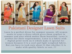 Lawn is a perfect dress for summer season. If you want a dress which gives you comfort i summer season then you have to buy a Lawn Dress. If you want to buy Lawn Suits, Pakistani Designers, Pakistani Outfits, Dress Collection, Dresses Online, Seo, Digital Prints, Summer Dresses, Fabric