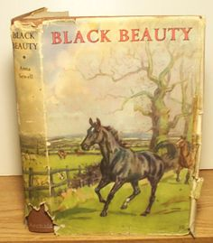 Black Beauty Life Story of a Horse by Anna Sewell 1959 16 Color Plates HB DJ UK