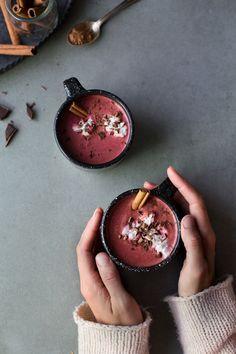 Red Velvet Hot Chocolate (Vegan + Sugar-Free)