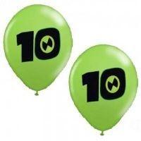 Balão 10 DEZ nº 10 (25cm) - 25 unidades