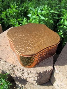 #Vintage #Tchibo #coffee #tin in copper tone