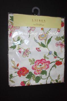 Ralph Lauren White Floral Caroline New Designer Table Runner 15 x 72 100% Cotton #RalphLauren