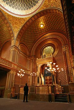 Spanish Synagogue in Prague, Czech Republic. For the best of art, food, culture, travel, head to theculturetrip.com. Or click theculturetrip.co... for everything a traveller needs to know about the Czech Republic