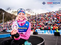 Makula wins her first silver medal in the WC (Anterselva 2019, foto by Petr Slavík)