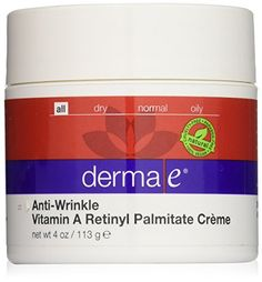 This refining formula helps increase cellular renewal to diminish the appearance of age lines and wrinkles on the skin while leaving it soft, smooth, and supple. Vitamin A at a potency of 10,000 IU. Skin care and beauty products is a participant in the Amazon Services LLC... FULL ARTICLE @ http://www.sheamoistureproducts.com/store/derma-e-anti-wrinkle-vitamin-a-retinyl-palmitate-creme-4-ounce-jar/?b=2942