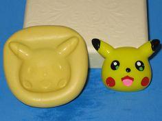 Pokemon Pikachu 2D Push Mold Food Safe by LobsterTailMolds on Etsy