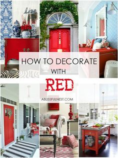 Trendy Home Color Red House Red Home Decor, Asian Home Decor, Unique Home Decor, Red Kitchen Decor, Red Living Room Decor, Living Rooms, Gray Decor, Unique Lamps, Kitchen Design