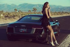 Audi vs Hot Models Even most of the females envy this rare specie i.e Audi In a recent survey, it has been claimed that if given a . Ferrari, Lamborghini, Sexy Cars, Hot Cars, Supercars, Audi R8 Black, Sexy Autos, Car Hd, Expensive Cars