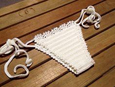 ivory cream crochet bikini bottom summerwear lace bikini swimsuit women brazilian bikini bottoms senoaccessory on Etsy, 19,90$
