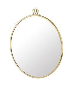 GUBI // Randaccio mirror in antique brass and cm by Gio Ponti Gio Ponti, Antique Brass, Antiques, Mirrors, Accessories, Home Decor, Antiquities, Antique, Decoration Home
