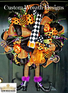 Whimsical Halloween Diamond Check Witch Hat and by lilmaddydesigns, $165.00