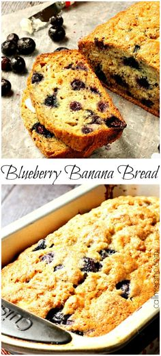 Blueberry Banana Bread with Almond Milk is full of healthier ingredients like almond milk, coconut oil, Greek yogurt and agave nectar!