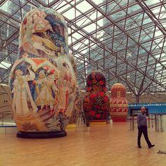 Exposicion matrioshkas gigante (2011), Alfimall, Moscu. RU.-