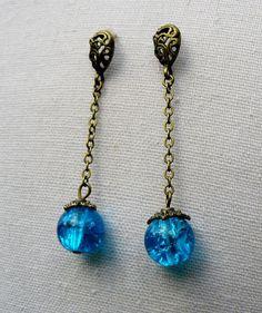 Azur ✿ Boucles d'oreilles : Boucles d'oreille par asta-en-bretagne