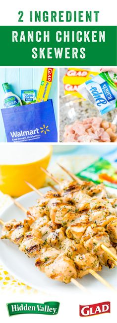 Fire up the grill—it's time to make a delicious new recipe! To start, make marinating chicken easy by using Glad® Press 'n Seal®. And here to help bring the flavor, Hidden Valley® Original Ranch® Dressing! If this recipe for quick 2-Ingredient Ranch Chicken Skewers seems right up your alley, pick up all the ingredients you'll need to make this dish for your next backyard barbecue.