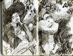 Frans Hals's Young Couple in my Moleskine