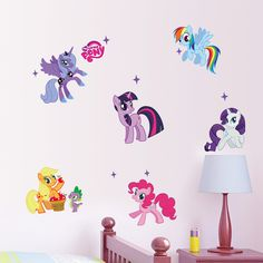 MY LITTLE PONY Cartoon Wall Decals Sticker Removable Vinyl Mural Kids Room Decor | eBay