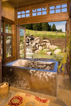 Best Rustic Master Bathroom Design Ideas and Photos - Zillow Digs Rustic Master Bathroom, Rustic Bathroom Designs, Rustic Bathrooms, Dream Bathrooms, Bathroom Ideas, Eclectic Bathroom, Luxury Bathrooms, Brown Bathroom, Bathroom Pictures