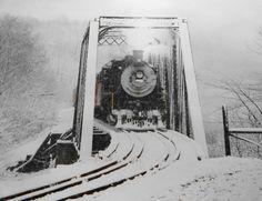 The old kinzua steam train, Kane, PA