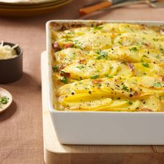 The combination of pecorino and Parmesan gives these potatoes a great cheesy depth.