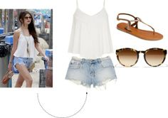 """""""Selena Gomez inspired outfit!"""" by dinicamillia on Polyvore"""