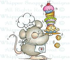 Squeaky Baker - Cooking - Rubber Stamps - Shop