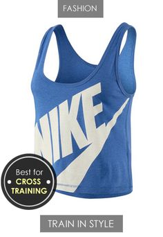 TRAIN IN STYLE WITH A LOW CUT CROPPED TANK TOP