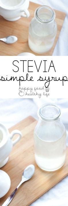 Stevia Simple Syrup - This No-Calorie Sugar-Free Sweetener Is The Perfect Way To Sweeten Up Your Cocktails, Mocktails, And Other Beverages Only Using Natural Sweeteners Happy Food Healthy Life Sugar Free Desserts, Sugar Free Recipes, Low Carb Desserts, Stevia Desserts, Sugar Free Simple Syrup Recipe, Sugar Free Coffee Syrup, Sugar Free Vanilla Syrup, Low Carb Cocktails, Healthy Cocktails