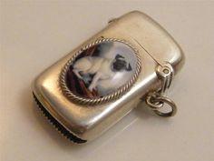 1905 Hallmarked Silver Enamel Vesta Case
