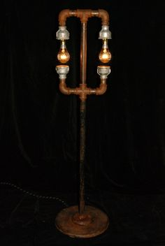 Steampunk Lamp • recycled parts