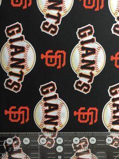 MBL San Francisco Giants baseball team cotton fabric from Fabric Traditions Baseball Socks, Baseball Tees, Official Nfl Football, San Francisco Giants Baseball, Baseball Equipment, Cotton Fabric, Etsy, Yard, Products