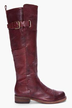 BELLE SIGERSON MORRISON Dark Burgundy Irene Boots