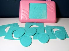 1980s Hasbro Fashion Faces Plates w/ Hair and Makeup...my mom got these for me and I used them all the time!