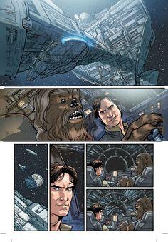 Star Wars #1, interior color art