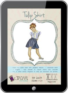 Tulip Skirt PDF Pattern