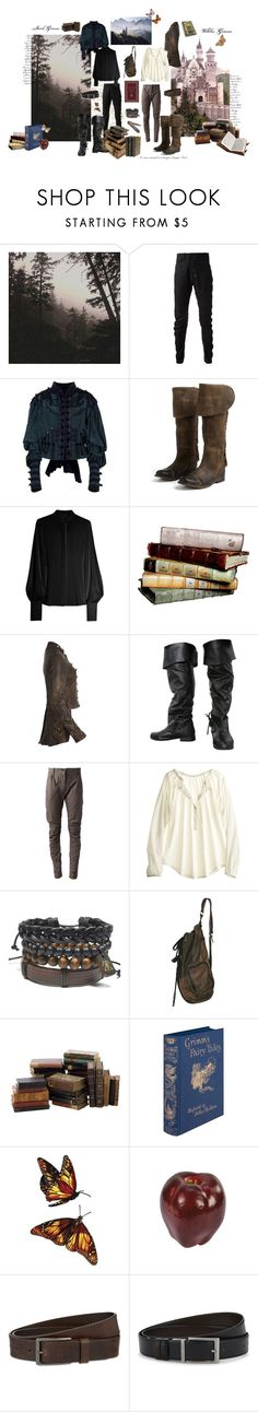 """Brothers Grimm"" by svenjadobbert ❤ liked on Polyvore featuring Leah Flores, Lost & Found, Marc Jacobs, Jeffrey Campbell, Giulietta, AllSaints, Calypso St. Barth, HUGO, men's fashion and menswear"