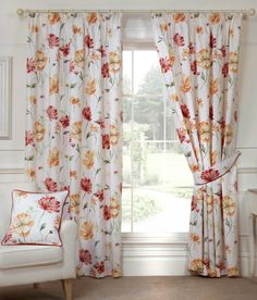 Nicole Autumn Ready Made Curtains Colours, Curtains, Autumn, Home Decor, Style, Colorful Kitchens, Swag, Blinds, Decoration Home