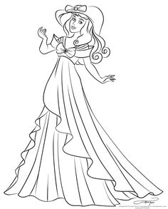 fashion lineart auroras spring dress by selinmarsou on deviantart see more colouring pages - Coloring Pages Ariel A Dress
