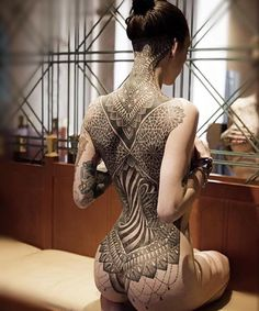 womenwithink: @glenncuzen | @mrscuzen #backpiece #backtattoo #blacktattoo #blackworkers #blacktattooart #blackwork #sacredgeometry #geometricaltattoo #dotwork #girlswithink #girlswithtattoos #modelswithink #modelswithtattoos #art #altgirls #altmodels #womenwithink #womenwithtattoos #ink #inkedgirls #inked #inkedwomen #inkedmodels #tattoo #tattooed #tattooedgirls #tattoedwomen #tattooedmodel