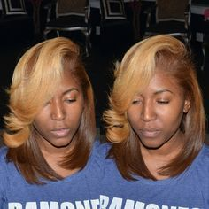 Love the color combo  http://www.shorthaircutsforblackwomen.com/hair-steamers-for-natural-hair/ 15 Unique Colored Hair Combinations On Black Women That Will Blow Your Mind 13
